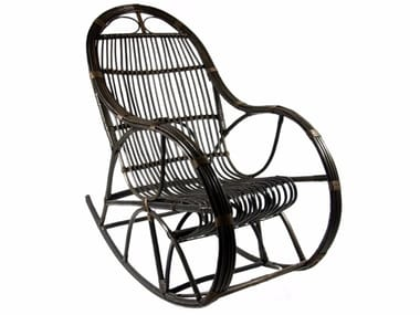 Rocking wicker armchair with armrests FST0070 - 0071 | Armchair
