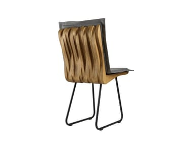 Sled base upholstered chair ORGANIQUE FST0340 - 0343