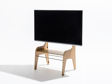 Plywood TV cabinet with cable management FSW | Plywood TV cabinet