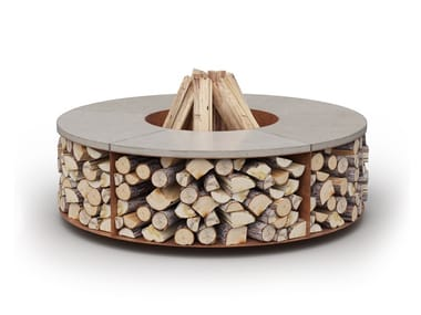 Wood-burning outdoor freestanding fireplace FUEGO