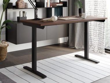 Height-adjustable laminate workstation desk FUJI | Office desk