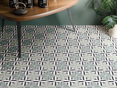 Porcelain stoneware wall/floor tiles with encaustic effect FUN SUMMER 01