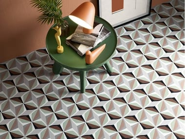 Porcelain stoneware wall/floor tiles with encaustic effect FUN WINTER 01