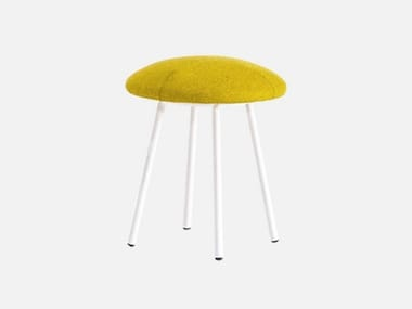 Low upholstered fabric stool FUNGO | Stool