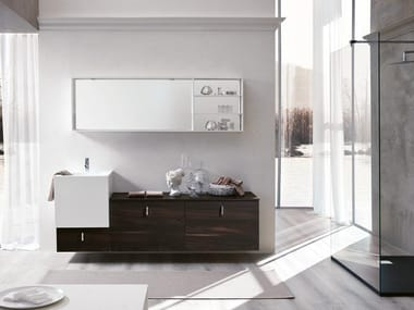 Wall-mounted vanity unit with mirror FUNKY 01