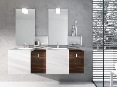 Wall-mounted washbasin with drawers FUNKY 05