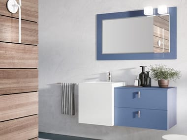 Wall-mounted vanity unit with mirror FUNKY 06