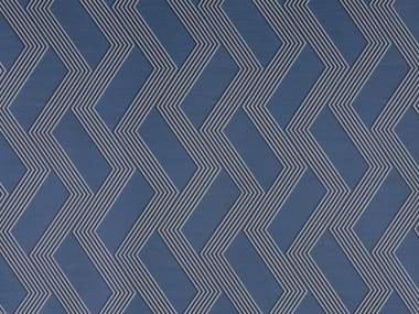 Embossed fire retardant upholstery fabric FUNKY STRIPES SN