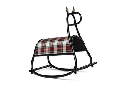 Beech and fabric rocking horse FURIA - CHRISTMAS EDITION | Fabric rocking horse