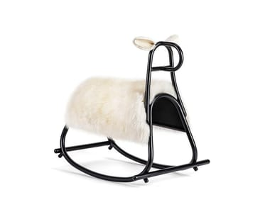 Fur rocking horse FURIA - CHRISTMAS EDITION | Fur rocking horse