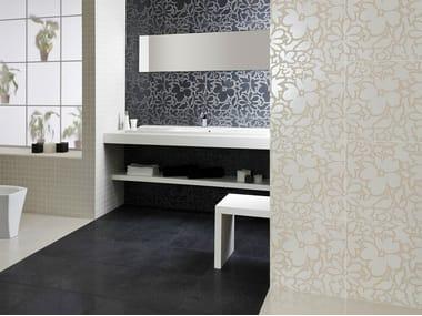 Pavimento/rivestimento in gres porcellanato effetto metallo FUSION TITANIUM
