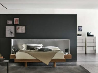 Double bed with integrated nightstands FUSION
