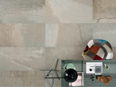 Porcelain stoneware wall/floor tiles with stone effect FUSION WHITES