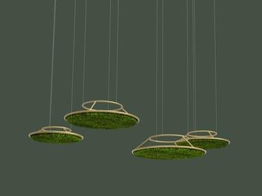 Pannello acustico a sospensione in piante stabilizzate G-CIRCLES | Pannello acustico a sospensione
