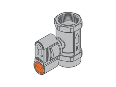 Threaded valve for dual-pipe gas meter G2 PA Straight valve – f/f version