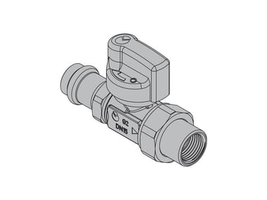 Valves for gas appliances G2 Straight valve with FIREBAG® crimp