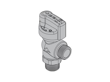 Valves for gas appliances with hoses G2 90° valve with FIREBAG® threaded