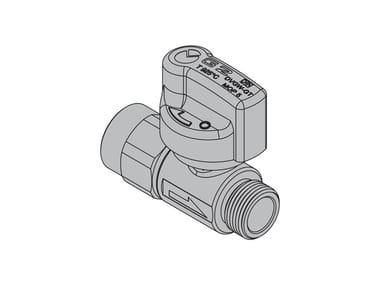 Valves for gas appliances with hoses G2 Straight valve with FIREBAG® threaded