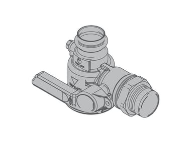 Right-angle valve for single-pipe gas meter G6 90° single-piece valve