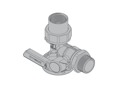 Right-angle valve for single-pipe gas meter G6 90° valve