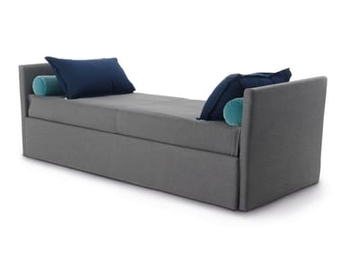 Upholstered fabric day bed with removable cover GABRIEL DUO ISOLEUSE