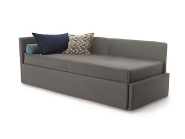 2 seater fabric sofa bed with removable cover GABRIEL DUO ISOLONA