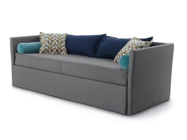 2 seater fabric sofa bed with removable cover GABRIEL DUO ISOLOTTO