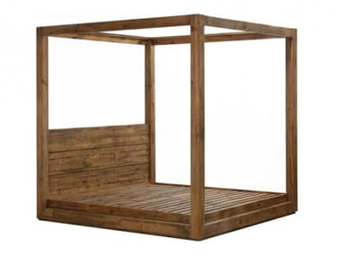 Solid wood king size bed GAIA