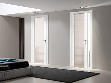 Porte per interni in legno e vetro con cerniere a scomparsa ...