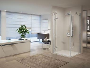 Box doccia modulare con porta a battente GALA | G+F