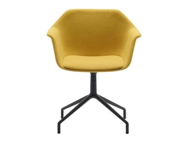 Upholstered fabric chair with armrests GALA SO0718