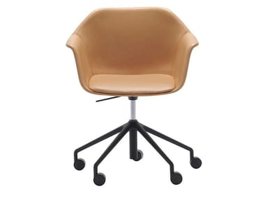 Swivel office chair with 5-Spoke base with castors GALA SO0722