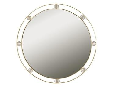 Espelho redondo moldurado de latão de parede GALATIC