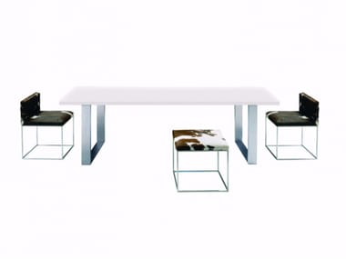 Lacquered rectangular MDF table GALE | Lacquered table