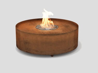 Gas outdoor freestanding fireplace GALIO FIRE PIT CORTEN