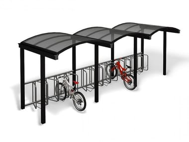 Metal porch for bicycles and motorcycles GALLERIA | Porch
