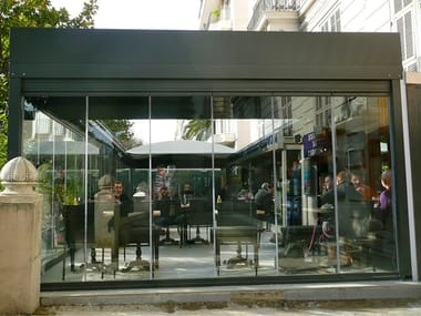 Aluminium Screen for dehor ROOMY MOTORIZZATO