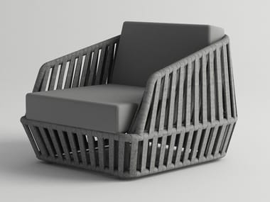 Garden armchair with armrests LITUS | Garden armchair
