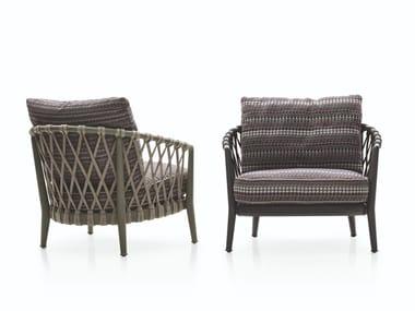 Fabric garden armchair with armrests ERICA '19   Garden armchair