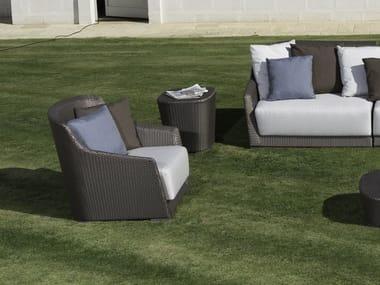Synthetic fibre garden armchair with armrests MOOD | Garden armchair