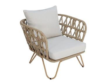 Synthetic fibre garden armchair with armrests RIO | Garden armchair