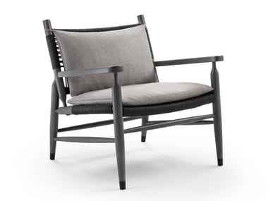 Garden armchair with armrests TESSA OUTDOOR | Garden armchair