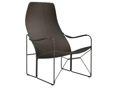 JanusFiber® garden armchair with armrests WHISKEY | Garden armchair