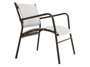 Stackable textilene garden armchair POLO | Garden armchair