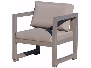 Garden armchair with armrests QUATRIS | Garden armchair