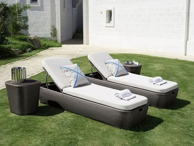 Recliner synthetic fibre garden daybed MOOD | Garden daybed