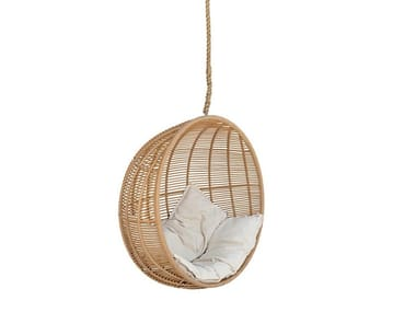 Synthetic fibre garden hanging chair MOON | Garden hanging chair