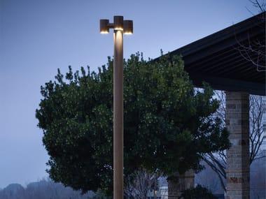 Lampione da giardino a LED in ottone ABARTH   Lampione da giardino