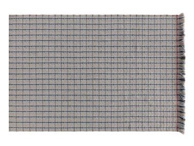 Tappeto rettangolare in polipropilene a motivi geometrici per esterni GARDEN LAYERS BLUE | Tappeto rettangolare