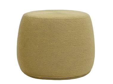 Round polypropylene garden pouf BON VIVANT | Garden pouf
